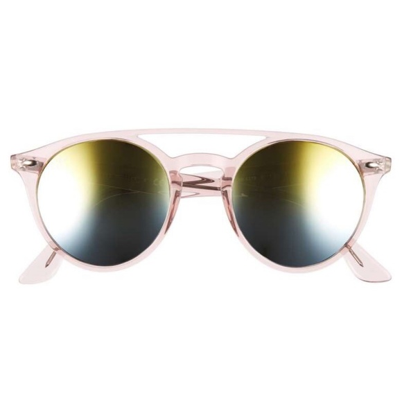 5ab0deddfe Ray-Ban 51mm Mirrored Pink Rainbow Sunglasses